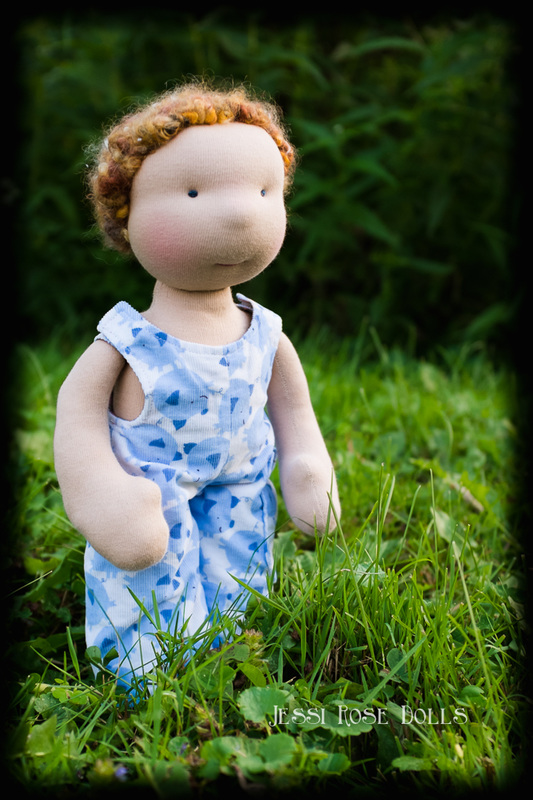 waldorf doll curly hair