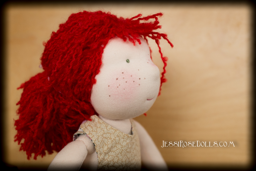 red hair waldorf doll
